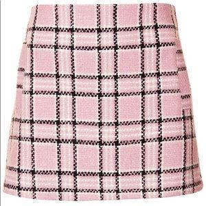 Topshop pink tweed mini skirt